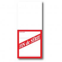 """Paquet de 250 étiquettes papier """"FIN de SERIE"""" L52 H120 mm"""