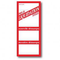 """Paquet de 250 étiquettes papier  """"Prix de Liquidation totale"""" L52 H120 mm"""