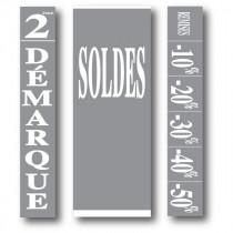 """Kit de 3 affiches """"SOLDES"""""""