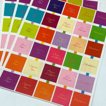 """10 planches de stickers carrés """"OCCASIONS"""""""