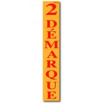 """Affiche """"2ème DEMARQUE"""" L28 H168 cm"""