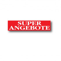 "Plakat ""SUPER ANGEBOTE"" 82 X 20 CM"