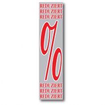 """Banner """"REDUZIERT %"""" 170 X 40 CM"""