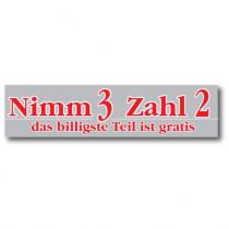 """Banner """"Nimm 3 Zahl 2"""" 120 X 30 CM"""