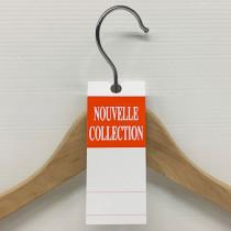 """50 étiquettes cintre """"NOUVELLE COLLECTION"""" L50 H140 mm"""