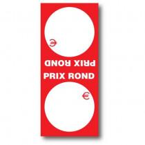 """Paquet de 250 étiquettes papier  """"PRIX ROND"""" double L52 H120 mm"""