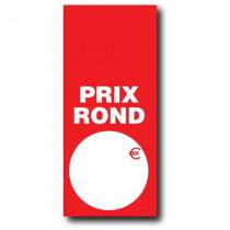 """Paquet de 100 étiquettes papier """"PRIX ROND"""" simple L52 H120 mm"""