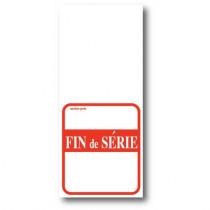 """Paquet de 500 étiquettes papier  """"FIN DE SERIE"""" L52 H 120 mm"""