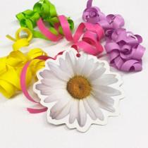 """Paquet de 20 étiquettes """"Marguerite"""" L11 H11 cm"""