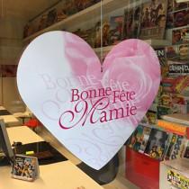 """Carton """"Bonne Fête Mamie"""" L48 H46 cm"""