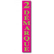 """Affiche """"2ème Démarque"""" L28 H168 cm"""