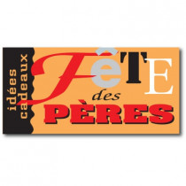 """Affiche """"Fête des Pères"""" L58 H29 cm"""