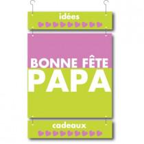 3 cartons pelliculés BONNE FÊTE PAPA L34 H67 cm
