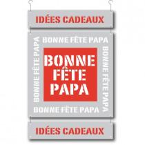 3 cartons pelliculés BONNE FÊTE PAPA   L34 H70 cm