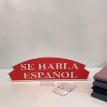"Carton ""SE HABLA ESPANOL"" L36 H11 cm"