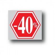 """Affiche """"-40%"""" L40 H40 cm"""