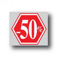 """Affiche """"-50%"""" L40 H40 cm"""