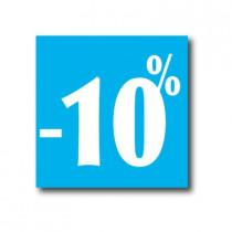 """Affiche """"- 10%"""" L40 H40 cm"""