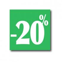 """Affiche """"- 20%"""" L40 H40 cm"""