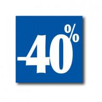 """Affiche """"- 40%"""" L40 H40 cm"""