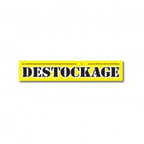 "Affiche ""DESTOCKAGE"" L80 H15 cm"