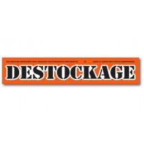 "Affiche ""DESTOCKAGE "" L165 H30 cm"