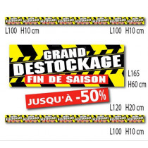 "Kit de 6 affiches "" GRAND DESTOCKAGE  FIN DE SAISON"""