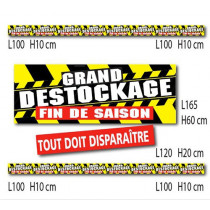"Kit 6 affiches "" GRAND DESTOCKAGE  FIN DE SAISON"""