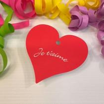 """Paquet de 50 étiquettes carton """"Je t'aime"""" L86 H80 mm"""