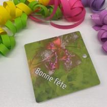 """Paquet de 50 étiquettes carton """"Bonne fête"""" L84 H84 mm"""