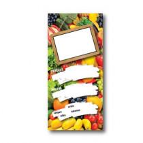 Paquet de 100 étiquettes carton  FRUITS ET LEGUMES  L70 H150 mm