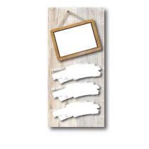 Paquet de 100 étiquettes carton ARDOISE BLANCHE L70 H150 mm