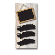Paquet de 100 étiquettes carton ARDOISE NOIRE L70 H150 mm