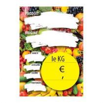 Paquet de 100 étiquettes papier LE KG L105 H150 mm