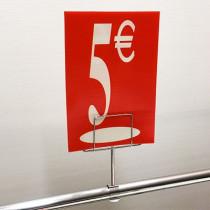 "Panneau polypro ""5€"" L17,5 H24,5 cm"