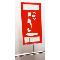 "Panneau polypro ""5€"" L19 H38 cm"