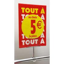 """OFFRE SPÉCIALE : les 3 panneaux polypro """"5€"""" 21x30cm"""