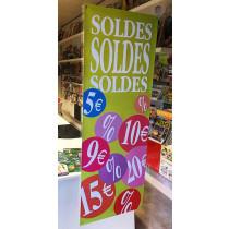 """Poster  """"SOLDES"""" L42 H115cm"""