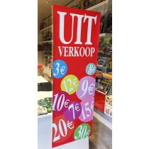 """Poster  """"UITVERKOOP"""" L42 H115cm"""