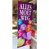 """Poster  """"ALLES MOET WEG"""" L42 H115cm"""