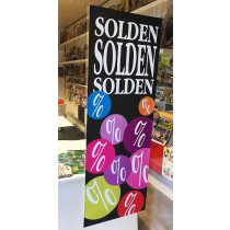 """Poster  """"SOLDEN"""" L42 H115cm"""