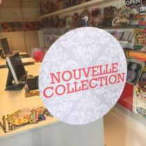 """Carton rond """"nouvelle collection"""" 48 cm et 2 ventouses"""