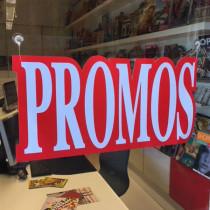 """Carton """"promos"""" L48 H23,5 cm et 4 ventouses"""