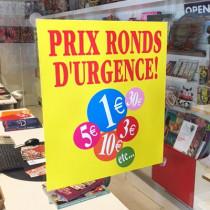 """Carton """"Les prix ronds"""" L34 H30 cm"""