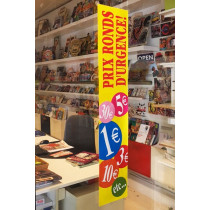"""Carton """"Les prix ronds"""" L20 H103 cm"""