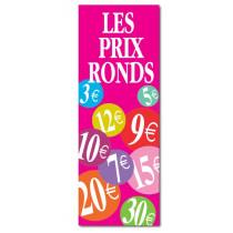 """Affiche """"Les prix ronds"""" L42 H115 cm"""
