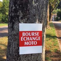 """Panneau  """"BOURSE ECHANGE MOTO"""" L38 H50 cm"""