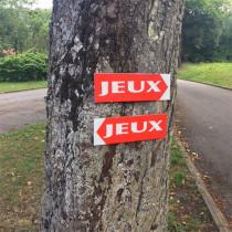 """Panneau  """"JEUX"""" L38 H12,5 cm"""
