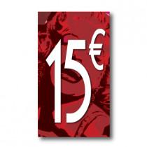 Panneau PVC 15€, 20x35cm