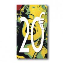 Panneau PVC 20€, 20x35cm